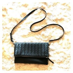 Stella & Dot braided leather crossbody bag